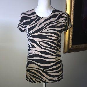 Calvin Klein Zebra Print Sweater